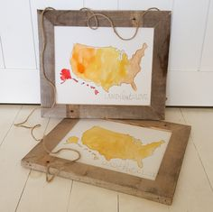 United States of America Map - USA Map - Watercolor Map - USA - Patriotic Decor - Americana - July 4th Decorations - Map - Patriotic by MintandMain on Etsy