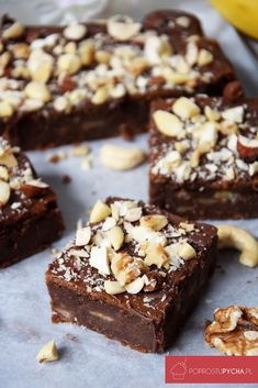 fit brownie with bananas - Fit Vegan Sweets, Healthy Sweets, Healthy Baking, Vegan Desserts, Brownie Recipes, Cake Recipes, Dessert Recipes, Sweet Desserts, Sweet Recipes