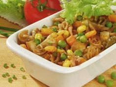 Zapekané cestoviny s Tofu Tofu, Fried Rice, Macaroni And Cheese, Fries, Chicken, Sweet, Ethnic Recipes, Diet, Candy
