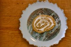 Pumpkin Roll with Cream Cheese Frosting {Delish!! It took a while to come together with some very specific directions.  My roll cracked a bit when I rolled it up but it tasted great.  This was a nice, lighter alternative to pie}
