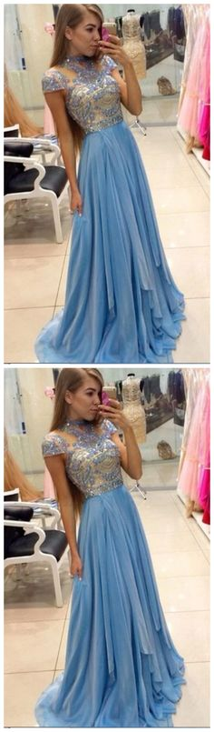 Outlet Great Beaded/Beading Prom Dresses, Blue A-line/Princess Prom Dresses, Long Blue Evening Dresses, Light Blue Long Beading High Neck Sparkly Cute Prom /Evening Dresses Blue Evening Dresses, Prom Dresses Long With Sleeves, Long Prom Gowns, Ball Gowns Prom, A Line Prom Dresses, Tight Dresses, Sexy Dresses, Long Dresses, Blue Dresses