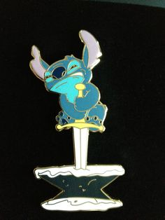 Haha! I remember making that face when doing the same thing.    Stitch - Guest Star Stitch Sword in the Stone Pin - LE 125 - Disney Pin
