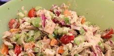 Ελαφριά κοτοσαλάτα που μπορεί να είναι ακόμη και το κυρίως γεύμα Greek Recipes, Potato Salad, Grains, Potatoes, Ethnic Recipes, How To Make, Food, Life, Recipes