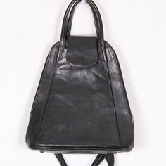 black leather backpack genuine leather by DAMODApl on Etsy