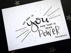 Van jou is er maar één! En precies dat maakt je zo bijzonder! 💪🏻❤️ . ——— www.brievenbusgeluk.nl ——— . . . . . . #brievenbusgeluk #quote…