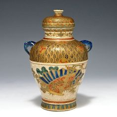 Japanese Gosu Blue Satsuma Jar