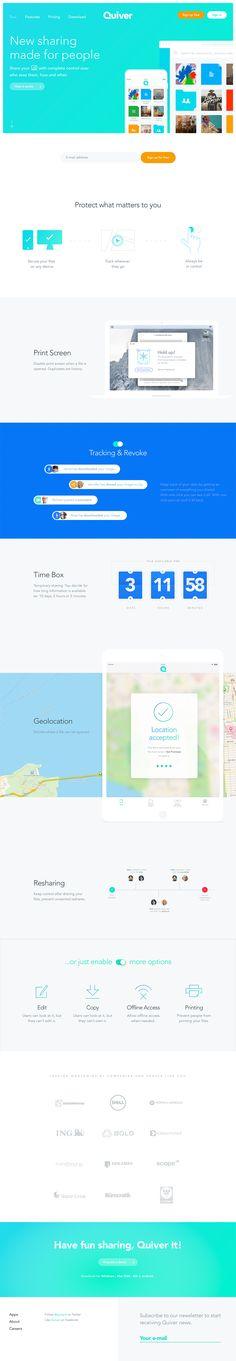 Quiver landing page design inspiration - Lapa Ninja App Landing Page, Landing Page Design, Flat Web Design, Website Header, Corporate Website, Ui Web, Quiver, Best Web, Web Design Inspiration