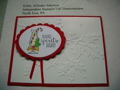 Kathy's Stamp Camp November 2014 Card #5 - Making Spirits Bright stamp