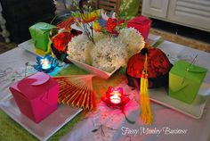 Fussy Monkey Business: Mulan Themed Family Night - pretty decor and we cook Chinese food all the time lol