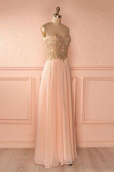 Emora Douceur - Pink sparkly top maxi dress