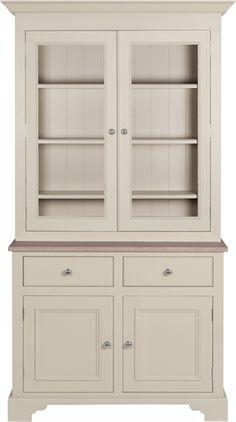 Neptune Chichester Glazed Rack Dresser, 3ft 6 in Smoke? / Fog?+1 / Mist? /Moss? /Alpine?