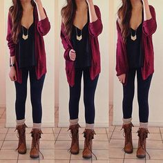 Wine Red Long Sleeve Pockets Cable Knit Cardigan