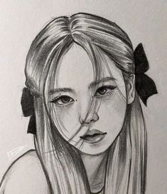 Girl Drawing Sketches, Oil Pastel Drawings, Kpop Drawings, Art Drawings Sketches Simple, Guy Drawing, Colorful Drawings, Pencil Portrait Drawing, Portrait Sketches, Pencil Art Drawings
