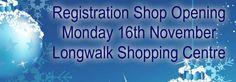 """Dundalk Record breaking """"Santa Run"""" registration on the November @ Longwalk Shopping Centre - Shopping Center, Centre, November, Santa, November Born, Shopping Mall"""