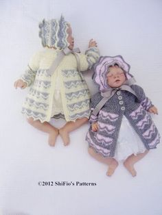 CROCHET PATTERN For Baby Zig Zag  Matinee Jacket & Hat by shifio