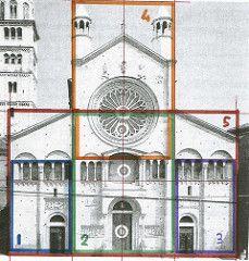 Romanesque architecture: Modena's Duomo has 5 'Golden rectangles' on the facade 3563721268_191c9f6bfa_m.jpg