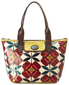 Fossil Handbag, Key-Per Canvas Shopper - Fossil - Handbags & Accessories - Macy's