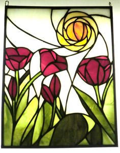 Orginally designed for a parents anniversay gift; tulips represent love and family. (11x14)