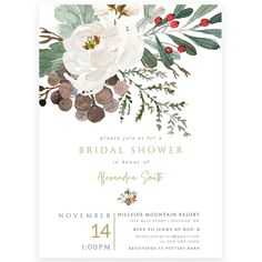 Winter Bridal Shower Invitation | Forever Your Prints