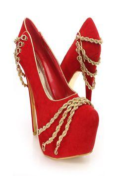 red stiletto pumps womens shoes 2sfXhOxu Red High Heels, Platform Stilettos, Nude Pumps, Stiletto Pumps, High Heels Stilettos, Womens High Heels, Black Pumps, Pump Shoes, Shoes Heels