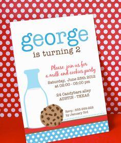 DIY PRINTABLE Birthday Party Invitation Card Blue by venspaperie, via Etsy.