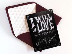 free chalk board valentines card   Download & Print