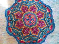 Crocheted Mandala Doily or Appliqué by ItsIntheBagCrochet on Etsy, $40.00