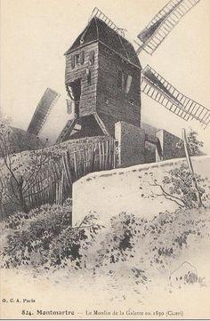 Chemin derrière le moulin, emplacement de l'avenue Junot!