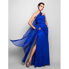 Formal Evening/Military Ball Dress Sheath/Column One Shoulder Floor-length Chiffon Dress – EUR € 119.99