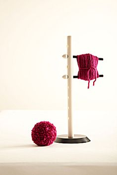 Pom Pom Maker from Lion Brand Yarn. Ohhhhh, this looks like a good DIY project to me.