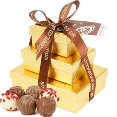 Eden Luxury Chocolate Tower 235g makes a fabulous Christmas gift www.eden4chocolates.co.uk Chocolate Hampers, Chocolate Gifts, Luxury Chocolate, Belgian Chocolate, Handmade Chocolates, Delicious Chocolate, Tower, How To Make
