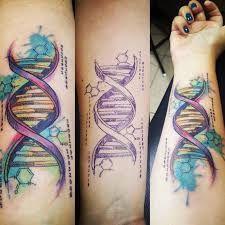 Billedresultat for tattoo dna Dna Tattoo, Biology Tattoo, Chemistry Tattoo, Science Tattoos, Body Art Tattoos, Sleeve Tattoos, Nerdy Tattoos, Cool Tattoos, Psychedelic Tattoos