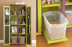Pet Station...Sliding Storage