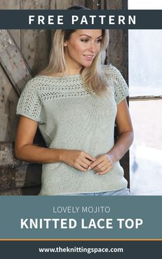Create this simply chic knitted lace top that will add a dose of style to your daily summer outfits Discover over 3 000 free knitting patterns at knitpatternsfree knittingprojects giftideas DIY handmadegift summerstyle springoutfits Sweater Knitting Patterns, Knitting Stitches, Knit Patterns, Knitting Ideas, Summer Knitting, Free Pattern, Top Free, Feminine, Fresh