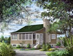 House Plan 49874 | Traditional    Plan with 760 Sq. Ft., 1 Bedrooms, 1 Bathrooms