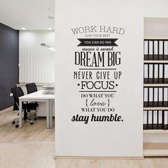 $7.05 Work Hard English Encouragement Proverb Study Room Wall Sticker