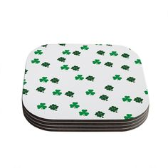 "KESS Original ""Shamrockin"" St. Patrick Coasters (Set of 4)"