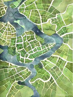 Growing Fields (Cityspace #100) by Boston artist Emily Garfield.