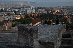 view from the Acropolis of Thessaloniki