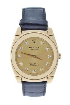 Vintage Rolex Unisex Cellini 18K Yellow Gold Diamond Automatic Watch