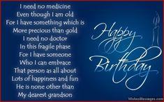 Birthday poems for grandson Happy Birthday Grandson Images, Grandson Birthday Quotes, First Birthday Quotes, Grandson Quotes, Birthday Verses, Happy Birthday My Love, Teen Birthday, Birthday Wishes Poems, Birthday Card Sayings