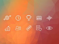 Gamification Icons #icon #icons #free #psd
