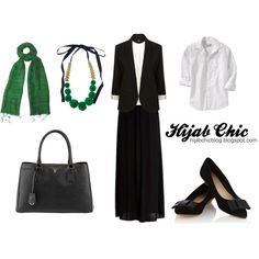 """""""Hijab style inspiration: go green style"""" by fashion4arab on Polyvore"""