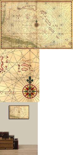 1639 Island of Cuba Caribbean Ocean Exploration Map 24x42