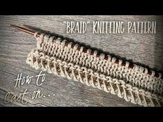 "САМЫЙ НЕОБЫЧНЫЙ НАБОР ПЕТЕЛЬ! 💥ХИТ ЭТОГО ЛЕТА!💥 HOW TO CAST ON: ""BRAID"" KNITTING PATTERN - YouTube Knitting Videos, Knitting Stitches, Knitting Patterns, Crochet Patterns, Crochet Ripple, Knit Crochet, Bind Off, Silk Fabric, Stitch Patterns"