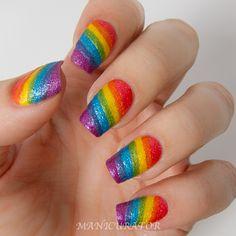 OPI Brazil Textures Rainbow Nail Art