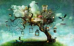 Сюрреалистични илюстрации, заличаващи границата между реалността и фантазията   High View Art