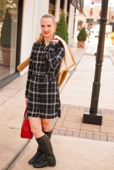 This plaid dress is