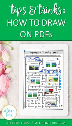 Drawing on PDFs! If you are a teacher who works one-on-one or in small groups this is a great PDF trick to be more efficient with your time and materials!