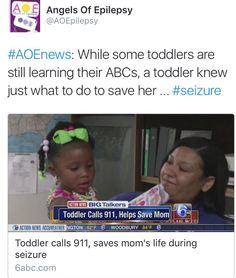 #AOEnews: LAFAYETTE, La. - While some toddlers are still learning their ABCs and getting potty trained, one toddler knew just what to do to save her mother's life... Read More... #AOEpilepsyNews #Pinterest #Twitter #Facebook #news #articles #seizures #epilepsy #firstaid #kids #Lafayette #Louisiana